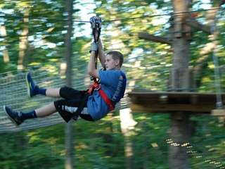 Kids can zip-line at the Adventure Park at