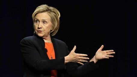 Former Secretary of State Hillary Rodham Clinton addresses