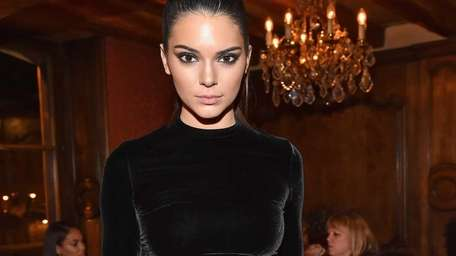 Kendall Jenner attends the Balmain Aftershow Dinner as