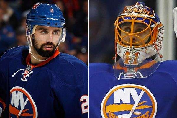 Nick Leddy, left, and Jaroslav Halak are expected