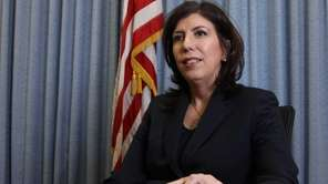 Madeline Singas, Nassau County?s acting district attorney, speaks