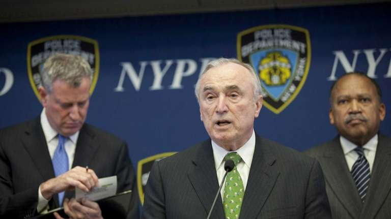 Police Comissioner William J. Bratton annouces the deployment