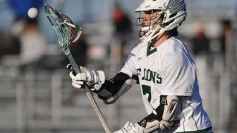 Locust Valley's Tyler Liantonio looks a pass into