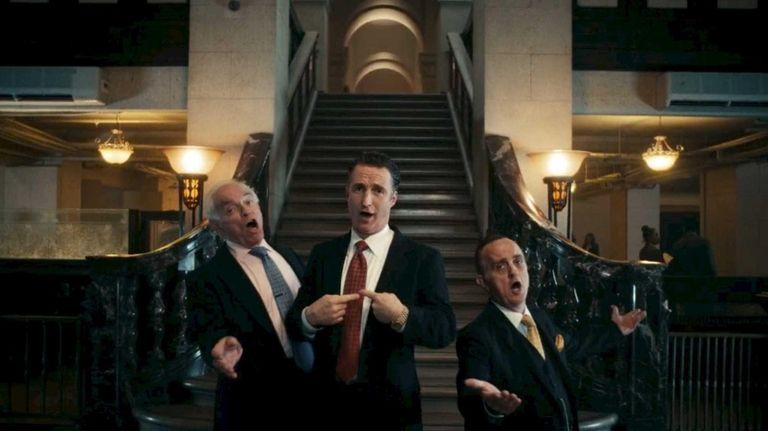 Actors as bankers sing