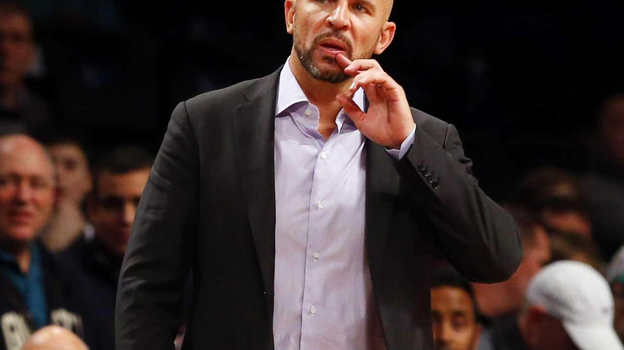 Jason Kidd of the Milwaukee Bucks reacts during