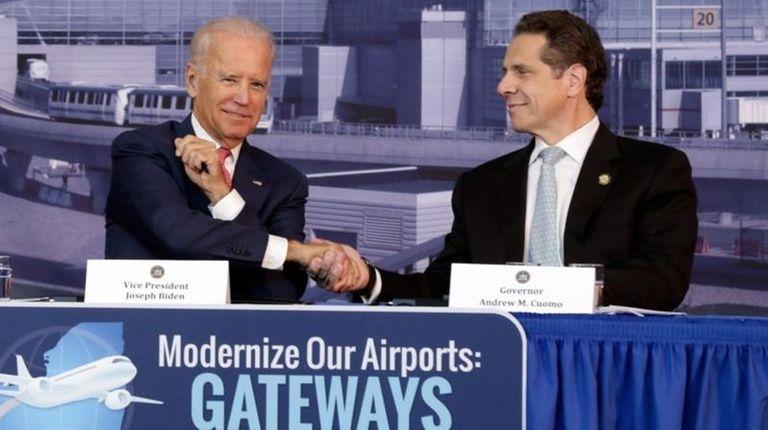 Vice President Joe Biden and Gov. Andrew M.