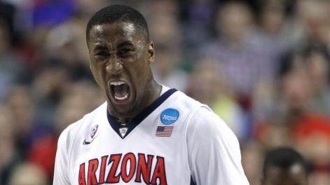 Arizona forward Rondae Hollis-Jefferson reacts after scoring during