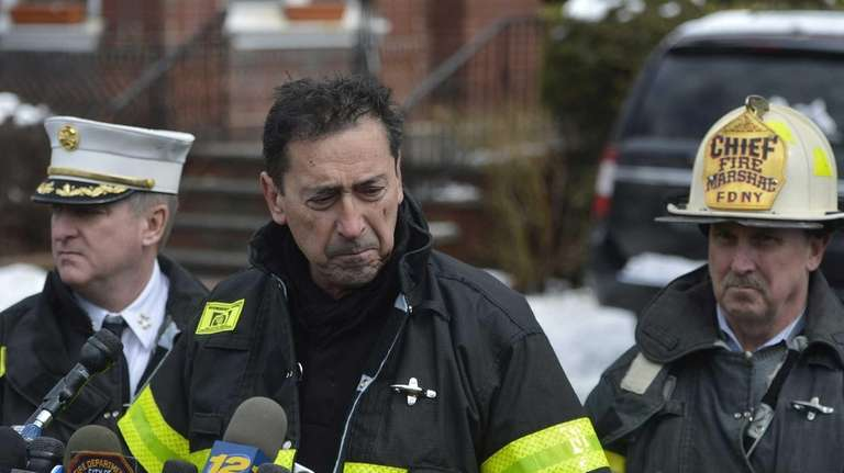 FDNY Fire Commissioner Daniel Nigro speaks to the