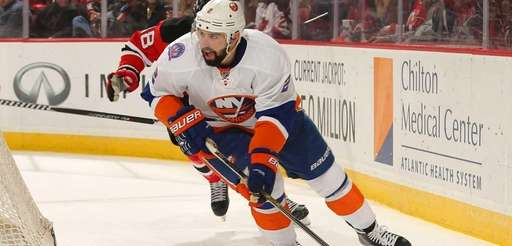 Nick Leddy of the New York Islanders controls