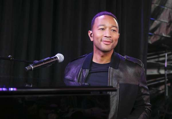 John Legend performs at the AXE White Label