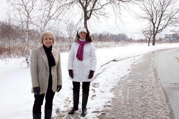 Christina Giacomazza, left, of Port Jefferson, and Kathleen