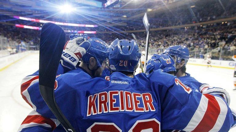 Chris Kreider #20 of the New York Rangers