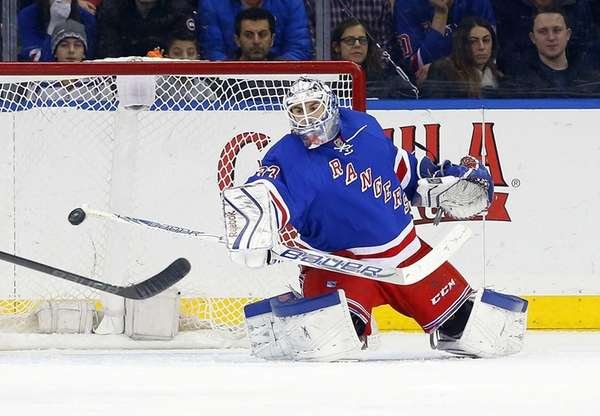 Cam Talbot #33 of the New York Rangers
