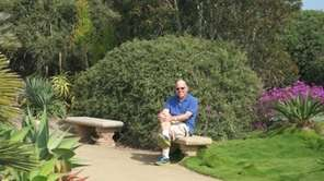 Reader Saul Schachter at the Meditation Gardens in