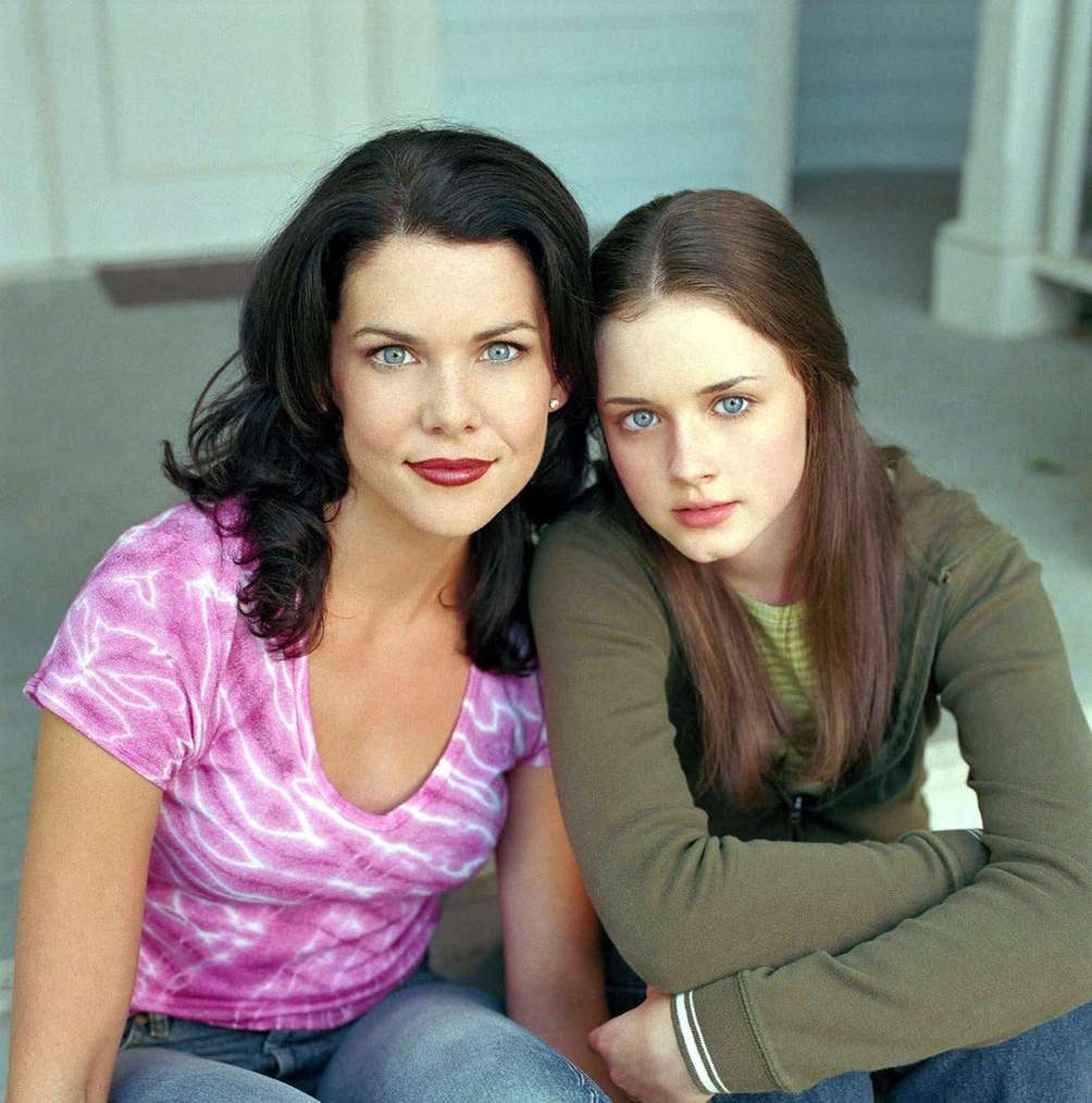 Lorelai and Lorelai (Rory). Stars Hollow, Connecticut. The
