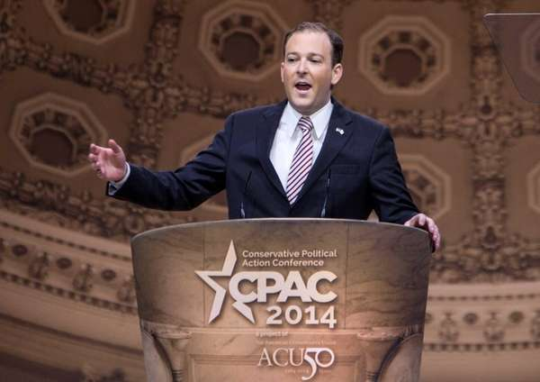 Rep. Lee Zeldin (R-Shirley) speaks at the Conservative