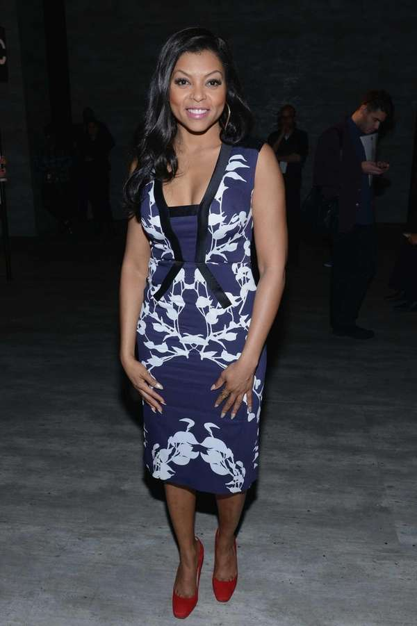 Taraji P. Henson attends the Bibhu Mohapatra fashion
