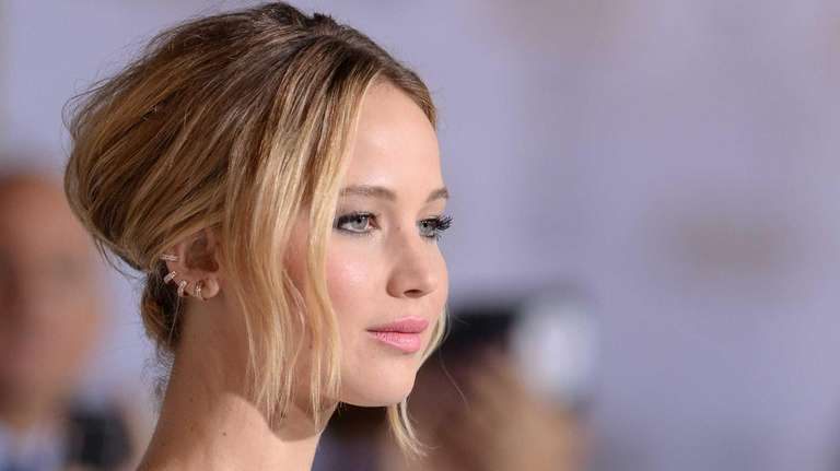 Jennifer Lawrence arrives for the Los Angeles premiere