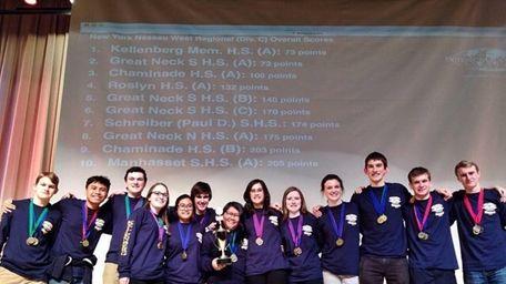 A team from Kellenberg Memorial High School in