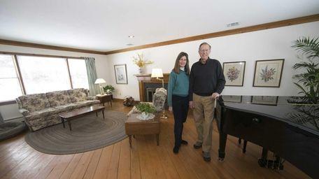 Marjorie and Larry Fischer in the living area