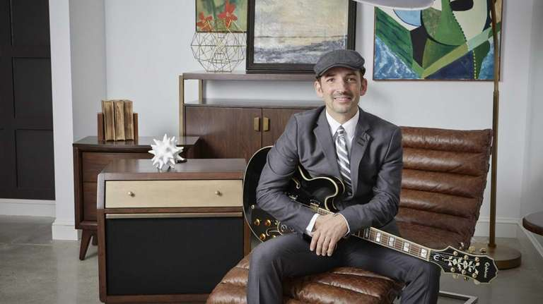 Musician Matt Marshak, of Riverhead, with some of