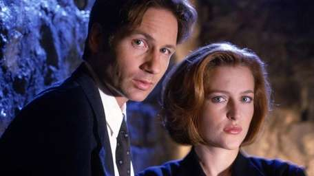 David Duchovny as Agent Fox Mulder and Gillian