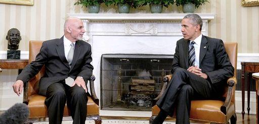 President Barack Obama speaks to Afghan President Ashraf