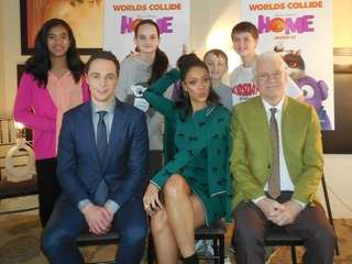 Kidsday reporters met actors Jim Parsons (Oh) ,