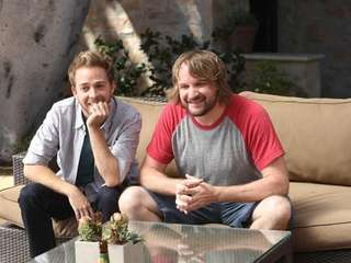 From left, Alex Anfanger and Lenny Jacobson as