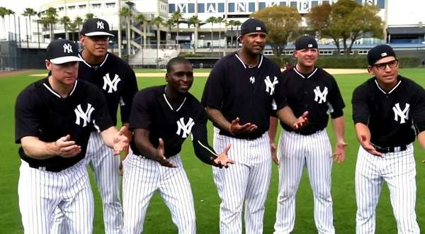 The Yankees reenacted a scene from