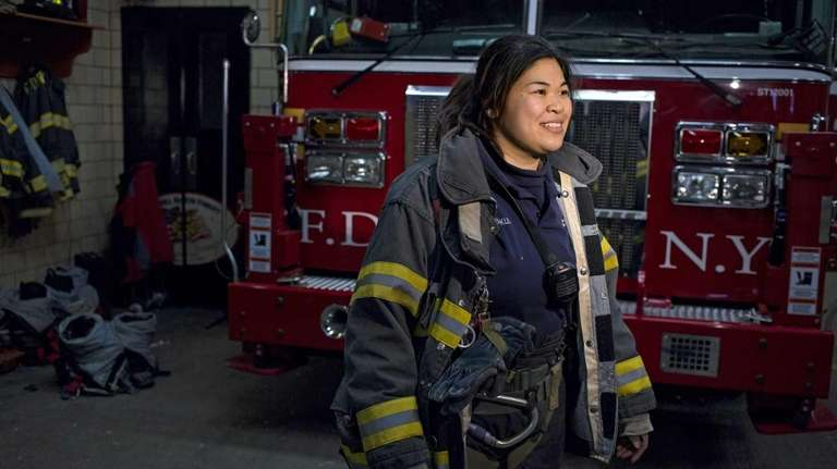 New York City firefighter Sarinya Srisakul speaks about