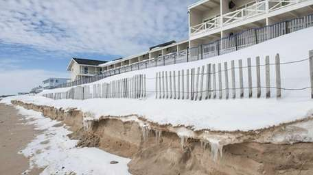Ocean waves caused by a blizzard led to