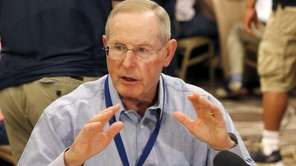 Giants head coach Tom Coughlin talks about his