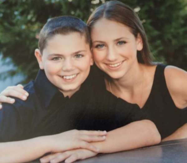 Sydney Levine of Melville, pictured with her brother
