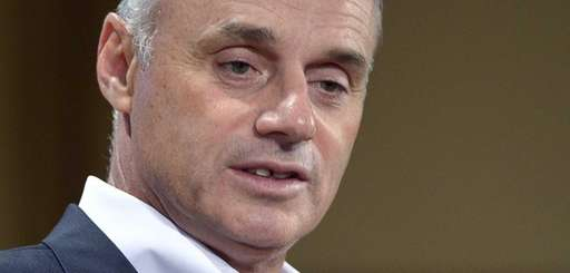MLB commissioner Rob Manfred talks to the media