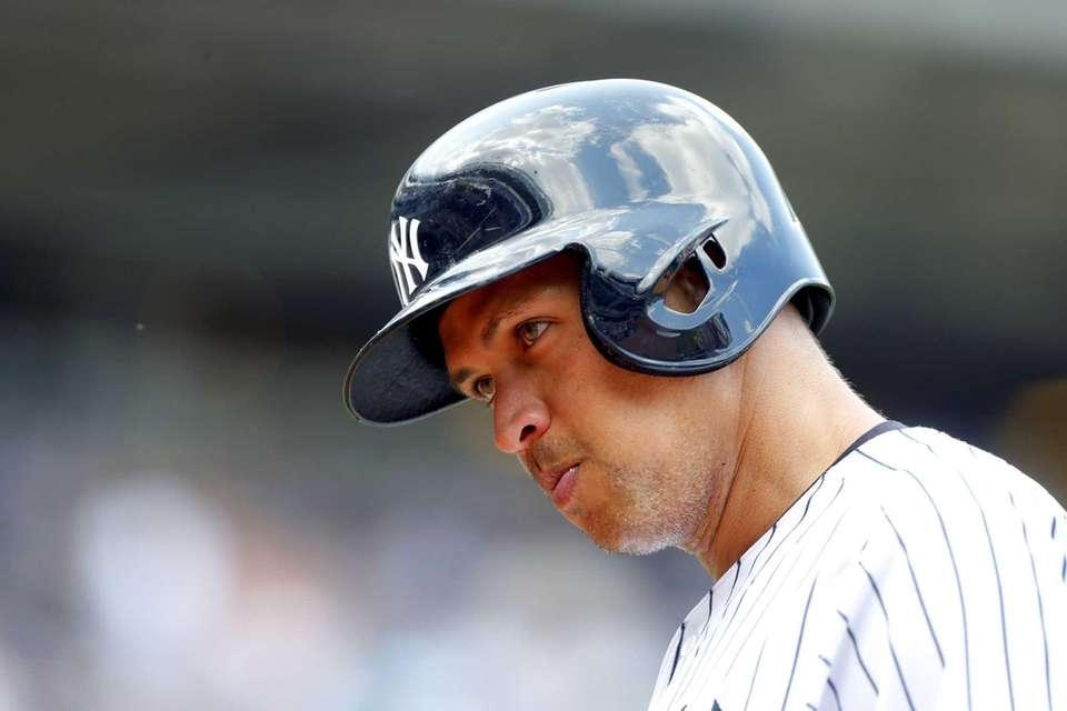 Alex Rodriguez hit safely in all nine of