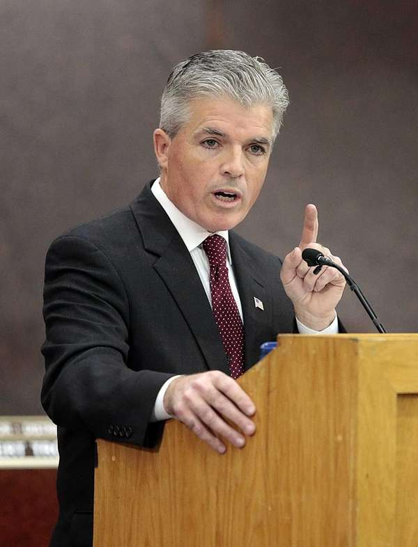 Suffolk County Executive Steve Bellone gives his State