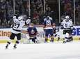 New York Islanders goalie Jaroslav Halak reacts as