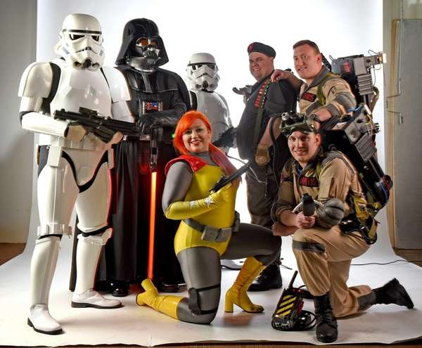 Top row, from left: members of the 501st
