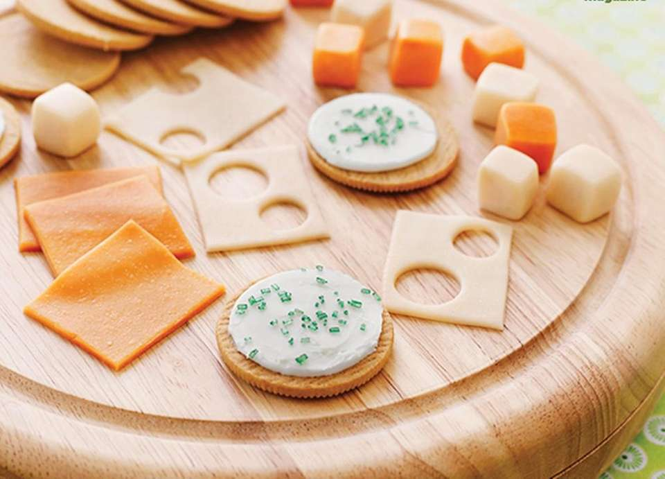 FamilyFunMag.com had a unique cheese platter idea: Use