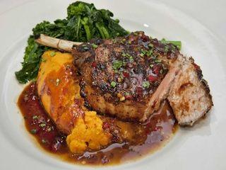 The Berkshire pork chop at Heirloom Tavern in