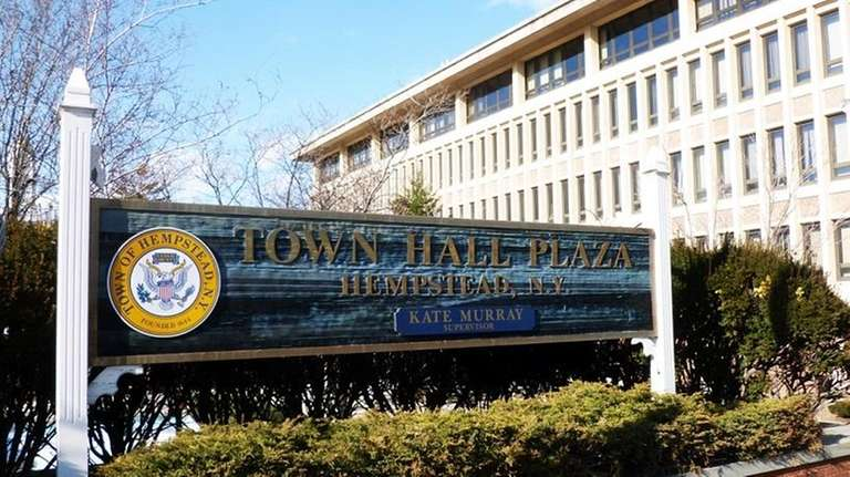 Town Hall Plaza in Hempstead is seen in