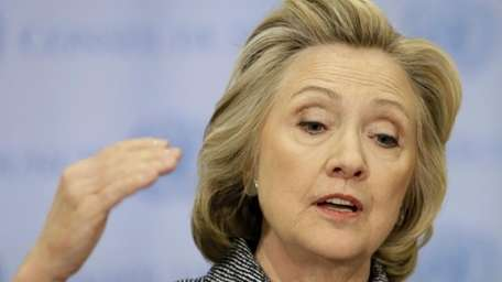 Former Secretary of State Hillary Rodham Clinton speaks