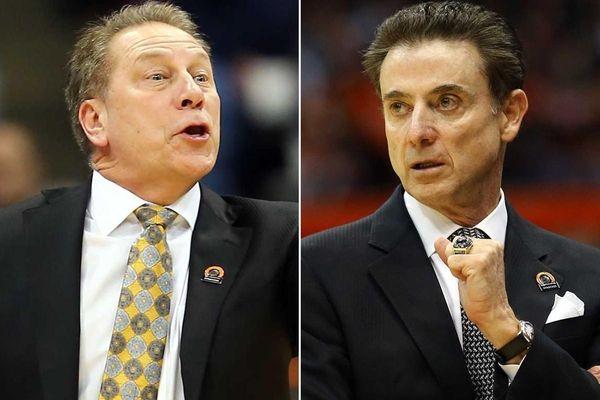 Michigan State head coach Tom Izzo, left, and