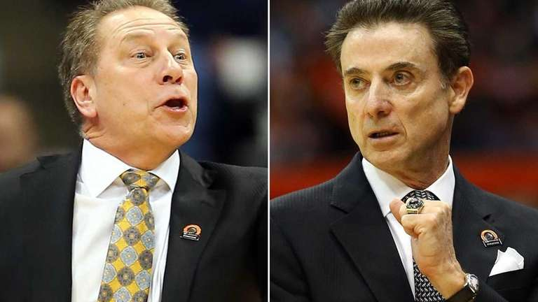 Michigan State head coach Tom Izzo, left, and