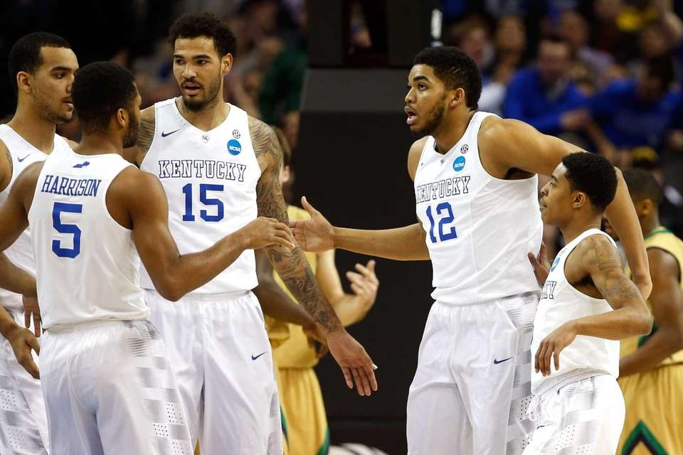 Andrew Harrison, Willie Cauley-Stein, Karl-Anthony Towns and Tyler