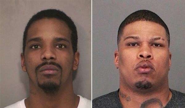 Iquan Drew of Uniondale, left, was arrested Saturday,