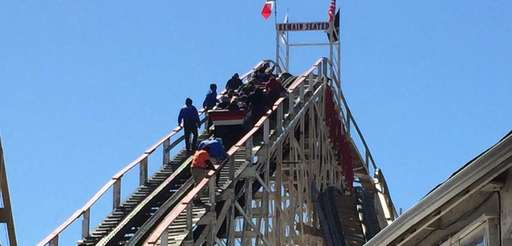 Riders on the Cyclone at Luna Park's opening