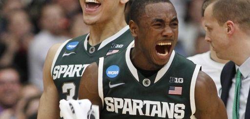 Michigan State's Lourawls Nairn Jr. (11) and Gavin
