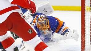 Jaroslav Halak #41 of the New York Islanders